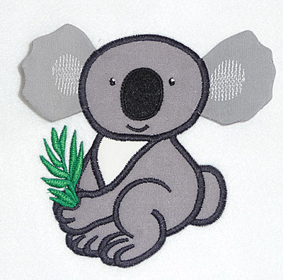 Embroidery Design: Koala applique 3.85w X 4.81h