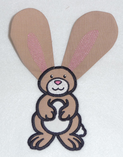 Embroidery Design: Bunny applique 5.97w X 4.28h