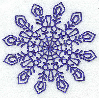 Embroidery Design: Snowflake 2 large 4.97w X 4.90h