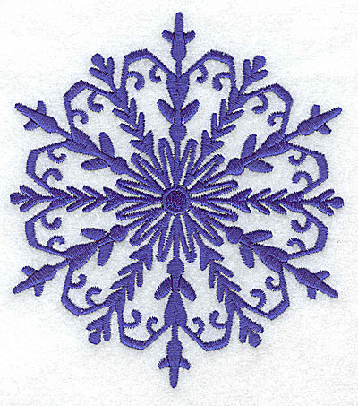 Embroidery Design: Snowflake 6 large 4.34w X 4.90h