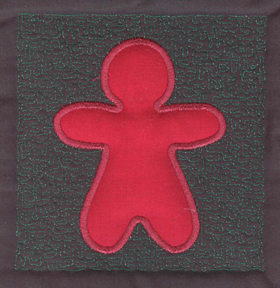 Embroidery Design: 4 inch Gingerbread Man3.90w X 4.02h