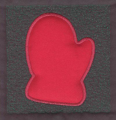 Embroidery Design: 4 inch Mitten3.89w X 4.02h