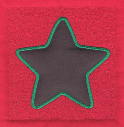Embroidery Design: 4 inch Five Point Star3.89w X 4.02h