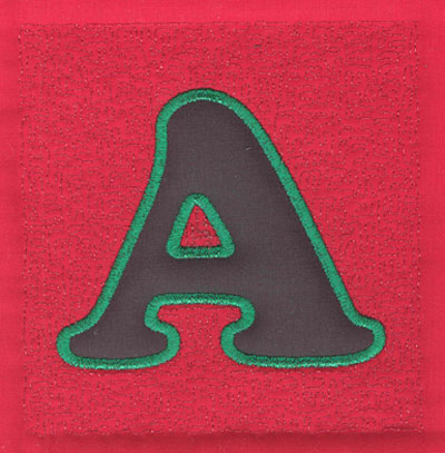 Embroidery Design: 4 inch A Applique Stipple4.03w X 3.90h