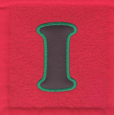 Embroidery Design: 4 inch I Applique Stipple3.89w X 4.02h