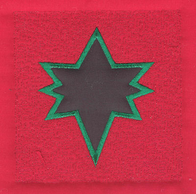 Embroidery Design: 4 inch Star<br>3.89w X 4.02h
