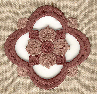 Embroidery Design: Flower cutwork small 2.54w X 2.54h