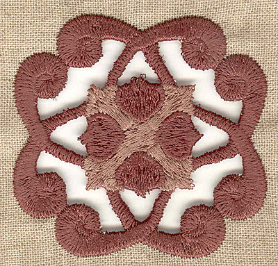Embroidery Design: Cutwork pattern small 2.59w X 2.59h
