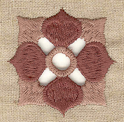 Embroidery Design: Floral square cutwork small 1.96w X 1.96h