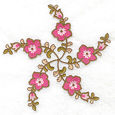 Embroidery Design: Carousel Flowers A large 4.94w X 4.88h