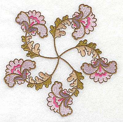 Embroidery Design: Carousel Flowers B large 4.96w X 4.92h