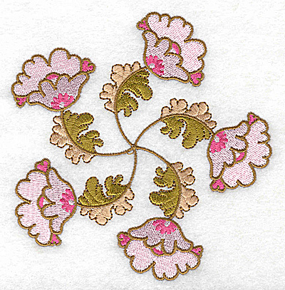 Embroidery Design: Carousel Flowers E large 4.79w X 4.95h