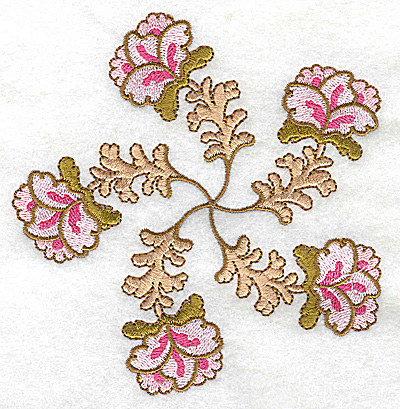 Embroidery Design: Carousel Flowers F large 4.85w X 4.95h