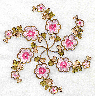 Embroidery Design: Carousel Flowers G large 4.80w X 4.98h