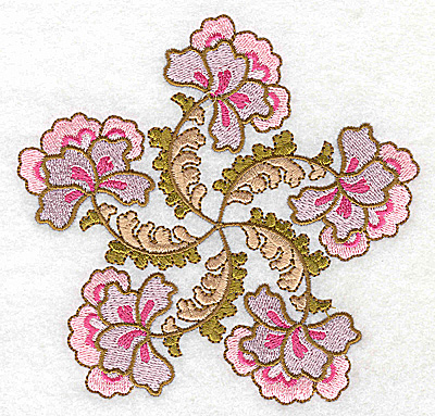 Embroidery Design: Carousel Flowers I large 4.97w X 4.83h