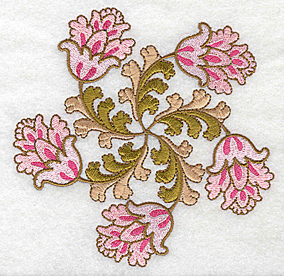 Embroidery Design: Carousel Flowers J large 4.84w X 4.94h