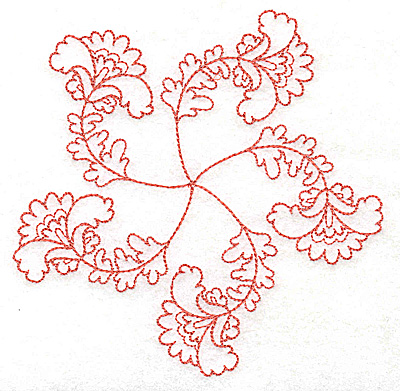 Embroidery Design: Carousel Flowers B outline 4.96w X 4.93h