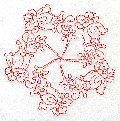 Embroidery Design: Carousel Flowers C outline 4.90w X 4.97h