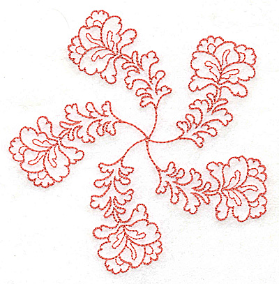 Embroidery Design: Carousel Flowers F outline 4.82w X 4.96h