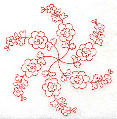 Embroidery Design: Carousel Flowers G outline 4.82w X 4.98h