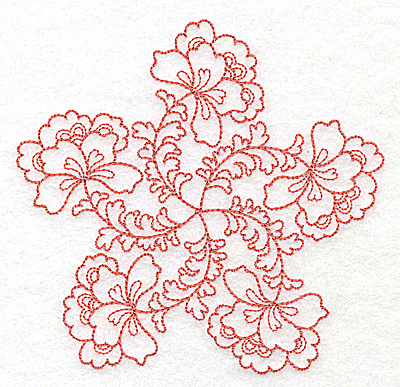 Embroidery Design: Carousel Flowers I outline 4.94w X 4.80h