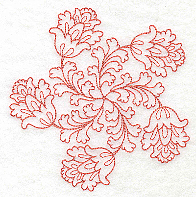 Embroidery Design: Carousel Flowers J outline 4.84w X 4.94h