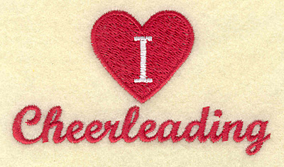 Embroidery Design: I love cheerleading small 3.84w X 2.16h