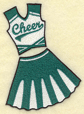 Embroidery Design: Cheerleaders outfit 3.46w X 4.78h
