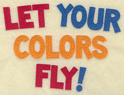 Embroidery Design: Let your colors fly large 6.69w X 4.97h