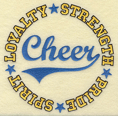 Embroidery Design: Cheer large 6.82w X 6.83h