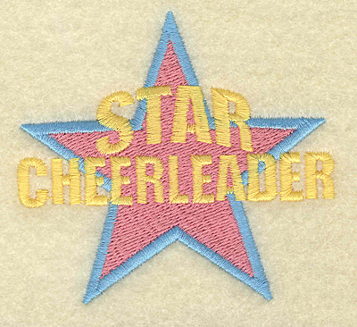 Embroidery Design: Star Cheerleader small 3.30w X 3.00h