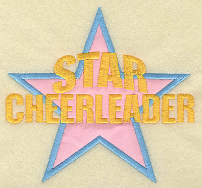 Embroidery Design: Star Cheerleader large applique 5.45w X 4.99h
