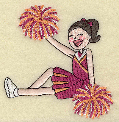 Embroidery Design: Cheerleader B 3.28w X 3.59h