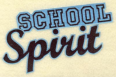 Embroidery Design: School spirit large 6.96w X 4.69h