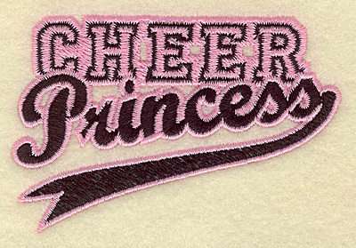 Embroidery Design: Cheer princess small 3.76w X 2.51h