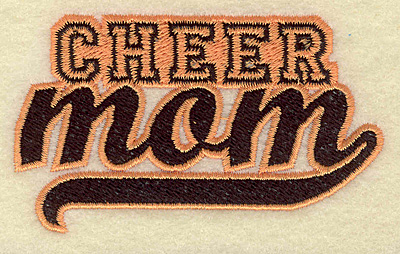 Embroidery Design: Cheer mom small 3.69w X 2.19h