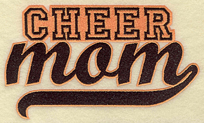 Embroidery Design: Cheer mom large 6.96w X 4.08h