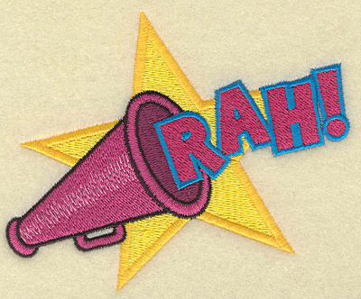 Embroidery Design: Rah 4.87w X 3.89h