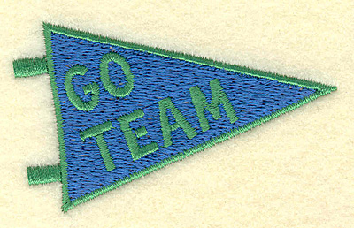 Embroidery Design: Go team banner 3.00w X 1.81h