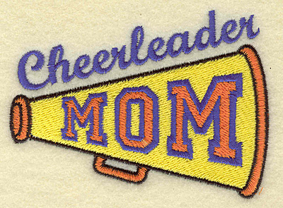 Embroidery Design: Cheerleader mom small 3.88w X 2.84h