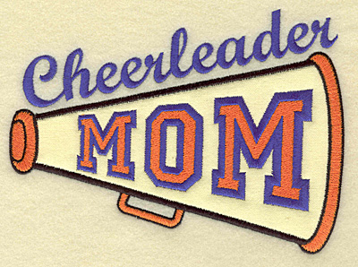 Embroidery Design: Cheerleader mom large applique 6.86w X 4.99h