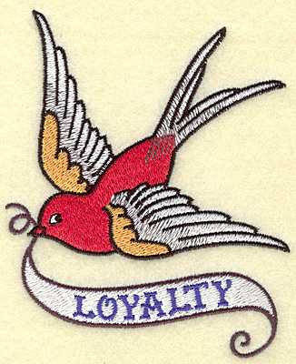 Embroidery Design: Loyalty bird large 4.05w X 4.94h