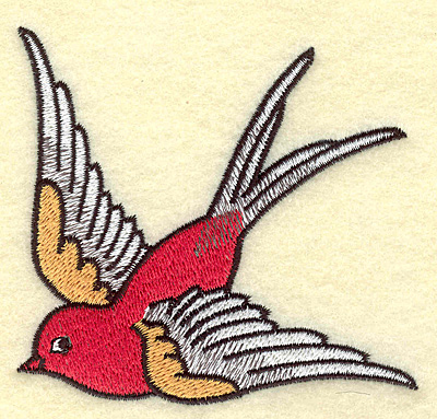 Embroidery Design: Bird  3.73w X 3.54h