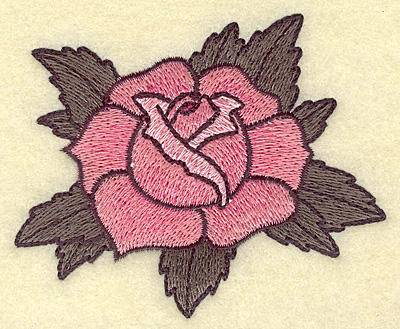 Embroidery Design: Rose 3.69w X 3.10h