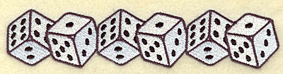 Embroidery Design: Dice border 6.92w X 1.51h