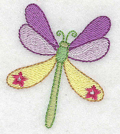 Embroidery Design: Dragonfly 2.02w X 2.41h
