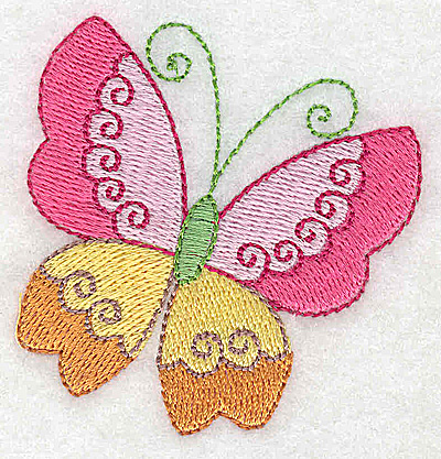 Embroidery Design: Butterfly 2.42w X 2.52h