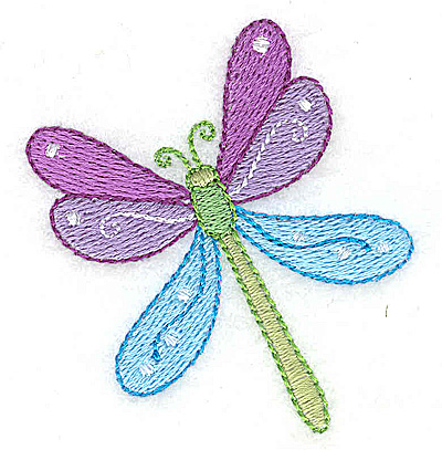 Embroidery Design: Dragonfly 2.28w X 2.43h