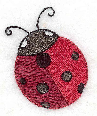 Embroidery Design: Ladybug 1.53w X 1.91h