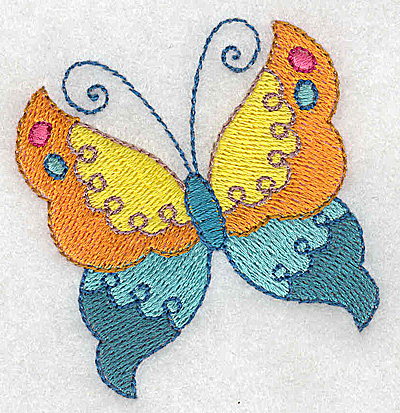Embroidery Design: Butterfly 2.54w X 2.66h
